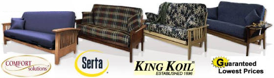Comfort Solutions, Serta, King Koil Futon Covers
